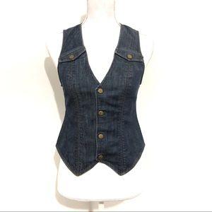 Urban Outfitters Lux Dark Denim Vest